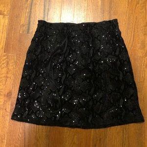 JOE FRESH Sequined Black Skirt